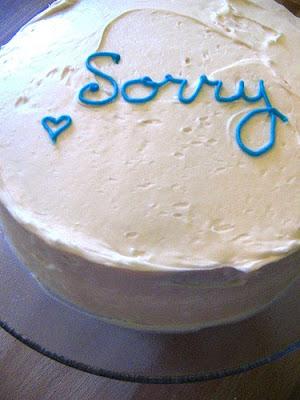 Sorry Cake