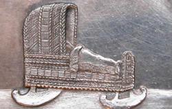 Kongelige fødselsmedaljer: Fødselsmedalje for prinsesse Caroline, f. 1793. Den hidtil sidste kongelige fødselsmedalje i Danmark
