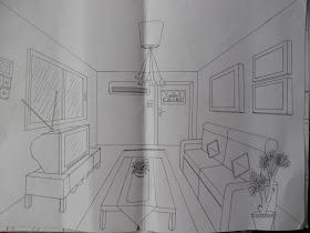 Seni Lukisan Perspektif Ruang Tamu