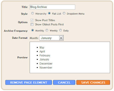 blogger archive settings