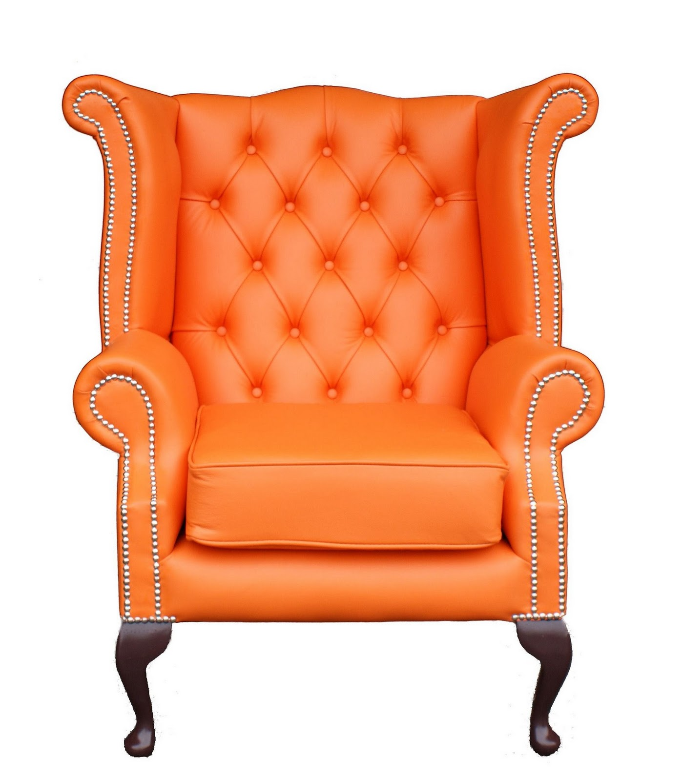 Orange Wingback Chair Orange The Pursuit Of Style