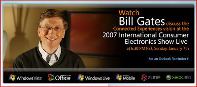 Bill Gates, Live fra CES 2007