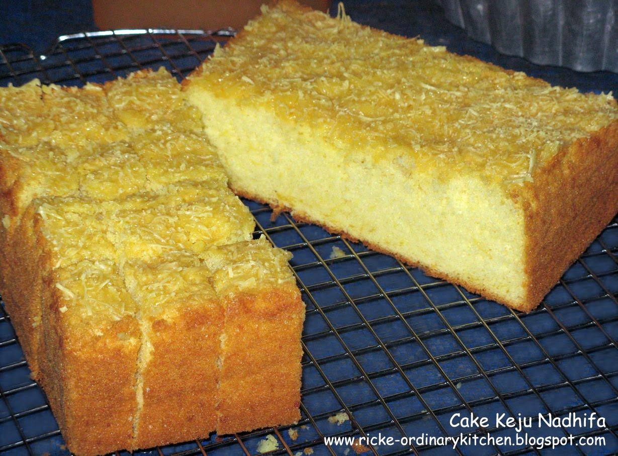 Resep Cake Keju Jepang: Just My Ordinary Kitchen...: CAKE KEJU NADHIFA