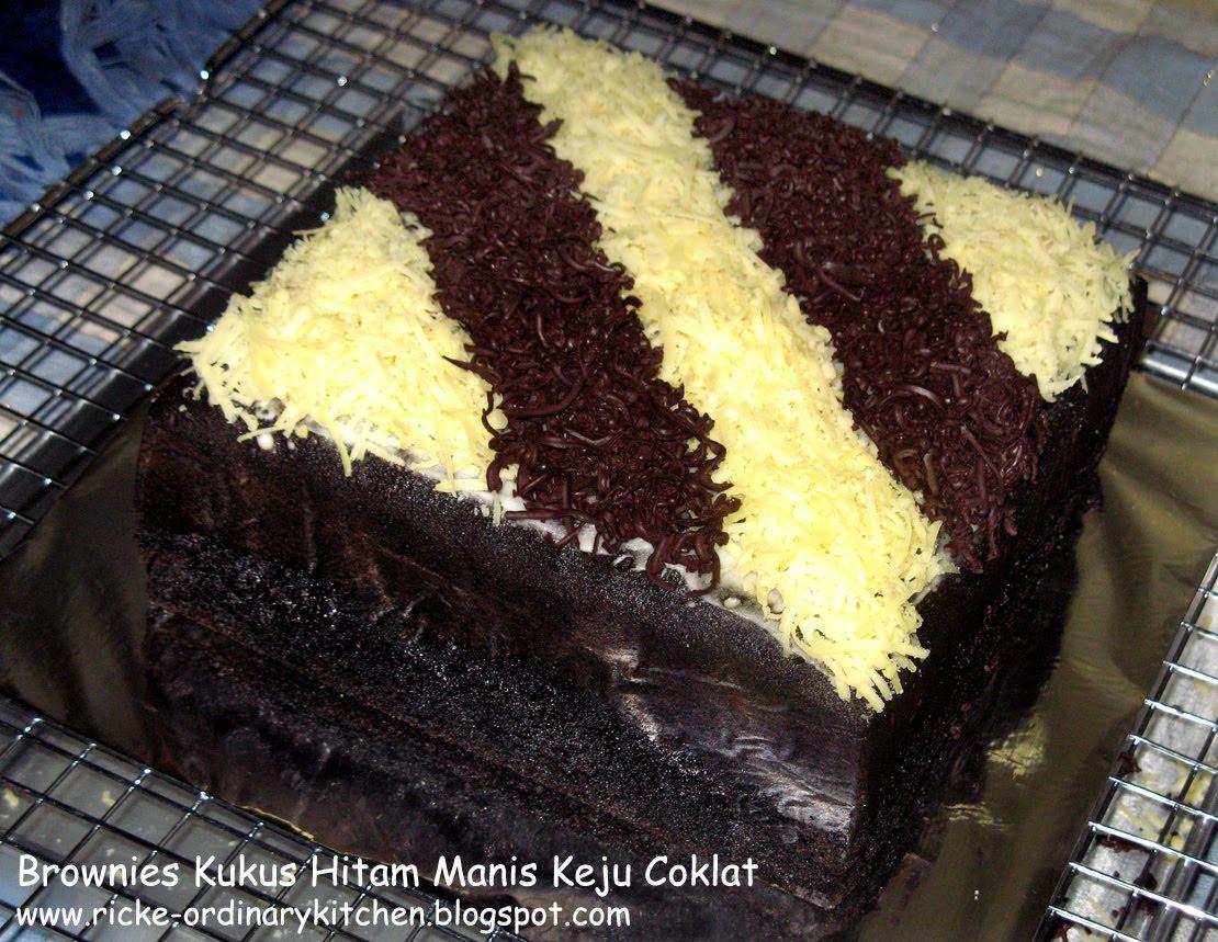 Resep Cake Kukus Keju Coklat: Resep Membuat Donut: BROWNIES KUKUS HITAM MANIS TOPPING