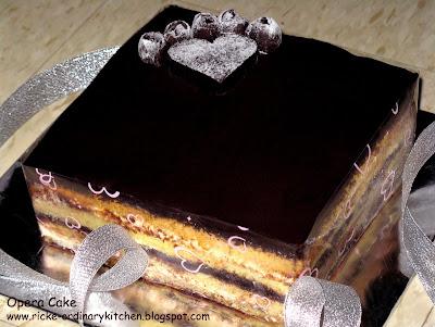 Resep Opera Cake Ricke