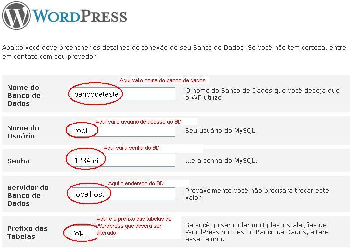 instalacao wordpress