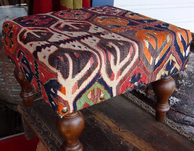 Peardownliving kilim ottoman - What is an ottoman used for ...