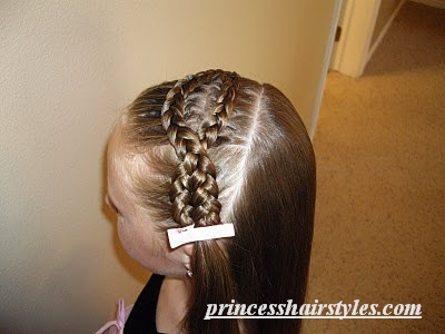 french braid in front
