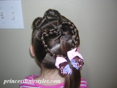 valentines heart hairstyle