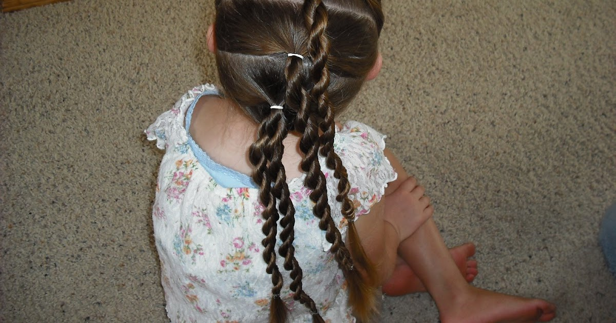 Twisted Knots Tween Hairstyle