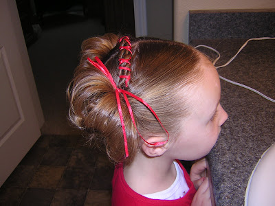 good hair styles for kids fluffy piggies with a twisted sewn headband hairstyles 3470 | DSCN3470