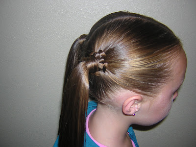 special occasion ponytail