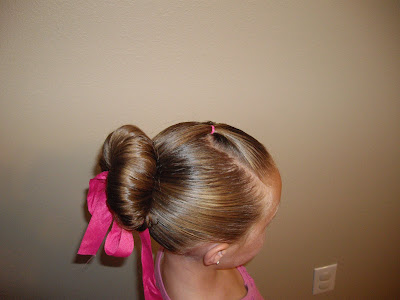 dance class hairdo