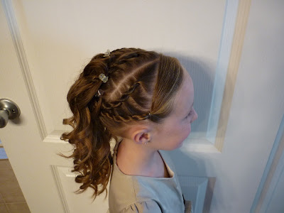 updo for little girls
