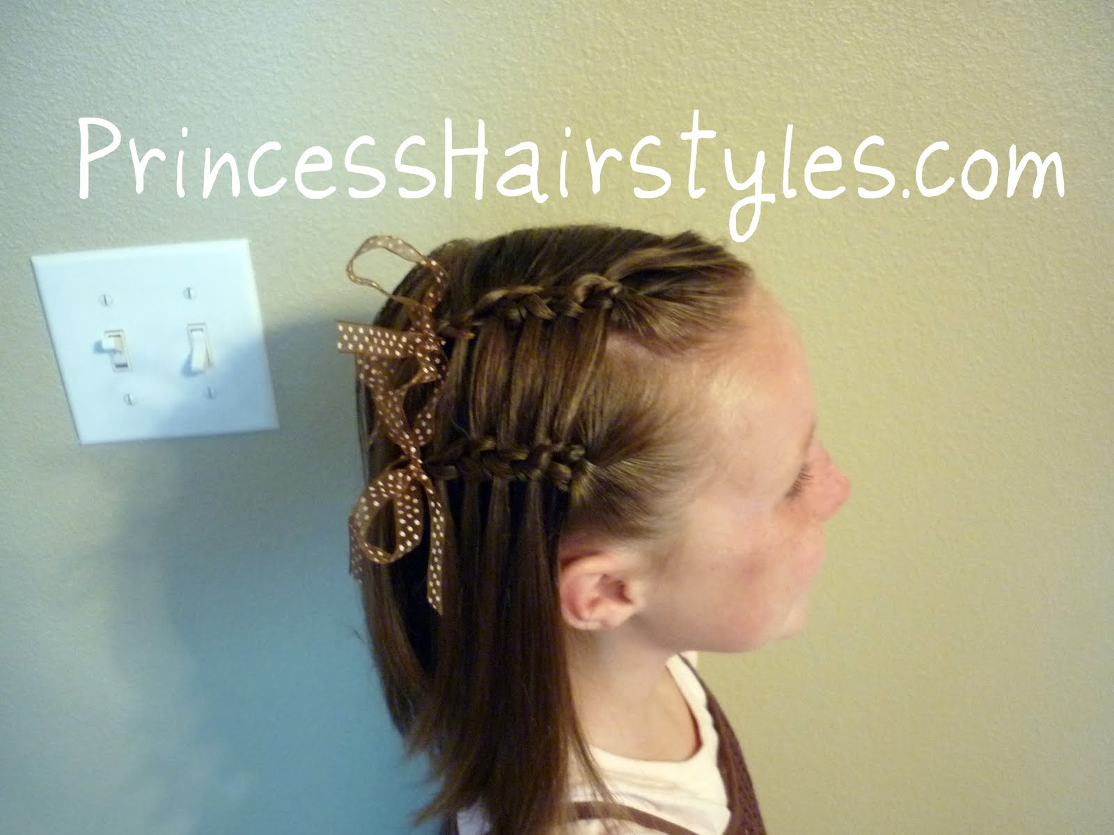 double faux waterfall french braid   hairstyles for girls
