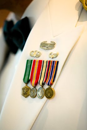 Military uniform at a wedding