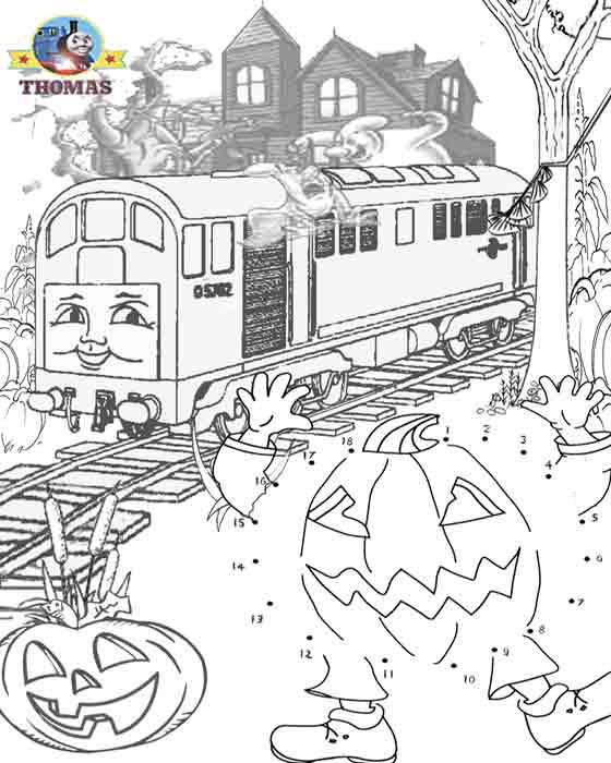 Thomas Train Trick Or Treat Dot To Dot Halloween
