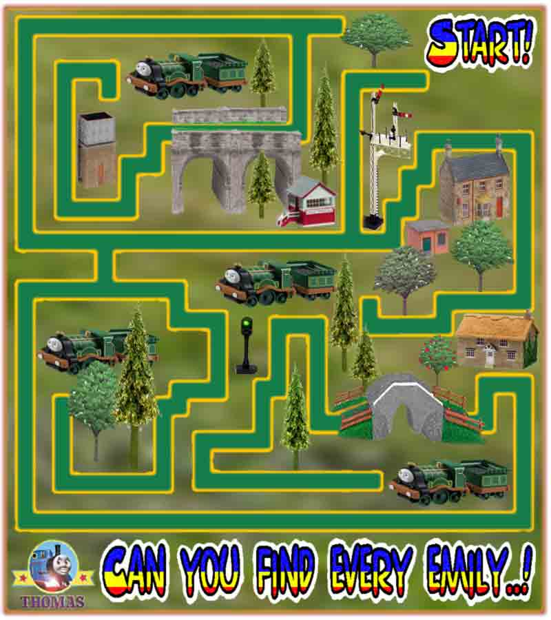 Thomas And Friends Easy Maze Game Puzzle For Kids To Print