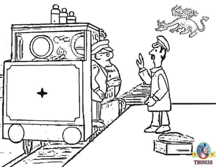 Ivor the Engine Jones the Steam and Welsh dragon Cartoon