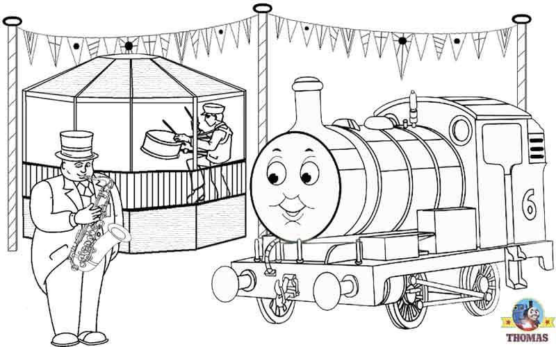 Thomas The Tank Engine Coloring Sheets