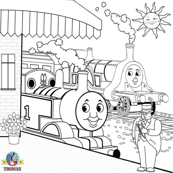 Thomas emily and the fat controller thomas friends for Emily the tank engine coloring pages