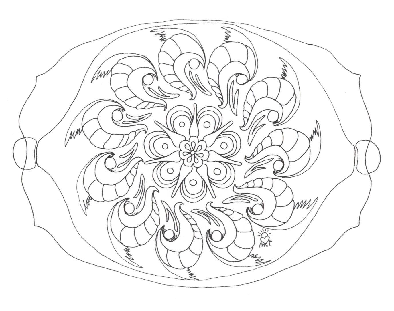 Mandalas Para Pintar Animal Bordeado De Paisaje On: Mandalas