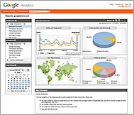 Sample de la interface de google analytics