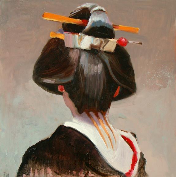 [Geisha+Portrait+I_12'x12]