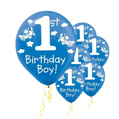 Baby Boys 1st Birthday Balloons