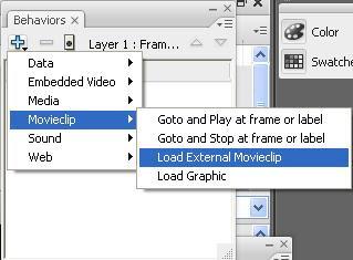 Load external flash movie