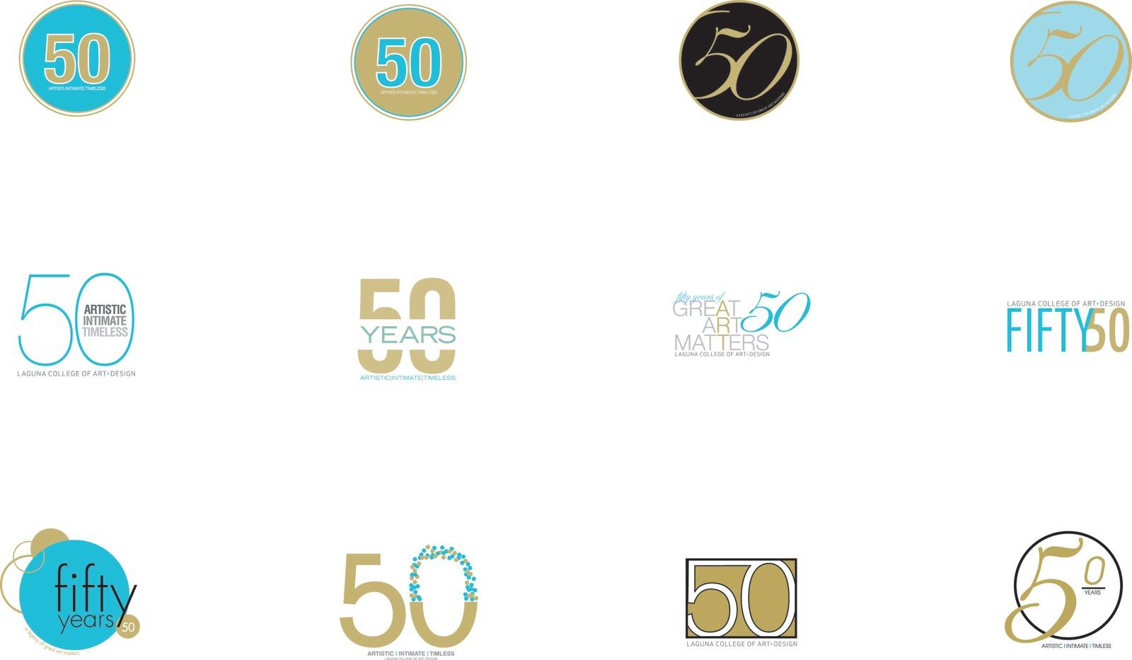 Amanda Hetrick Graphic Design Lcad 50th Anniversary Logo