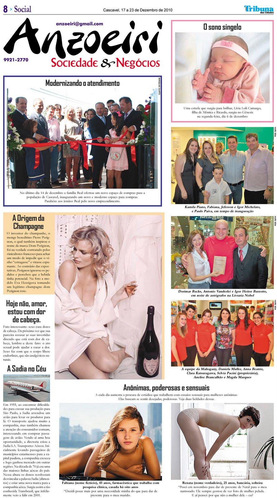 Anelise Pelada anzoeiri notícias, gastronomia e causos: 2010