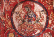 Green Tara. Mural painting, early 11th century