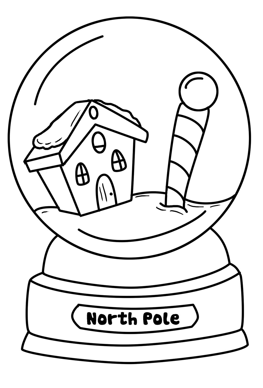 christmas snow globes coloring pages | HunkyDorky