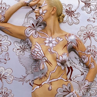 Beautiful Background of Body Paint 1