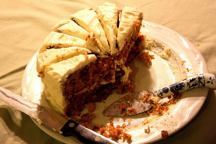 Dad Eats Wedding Cake