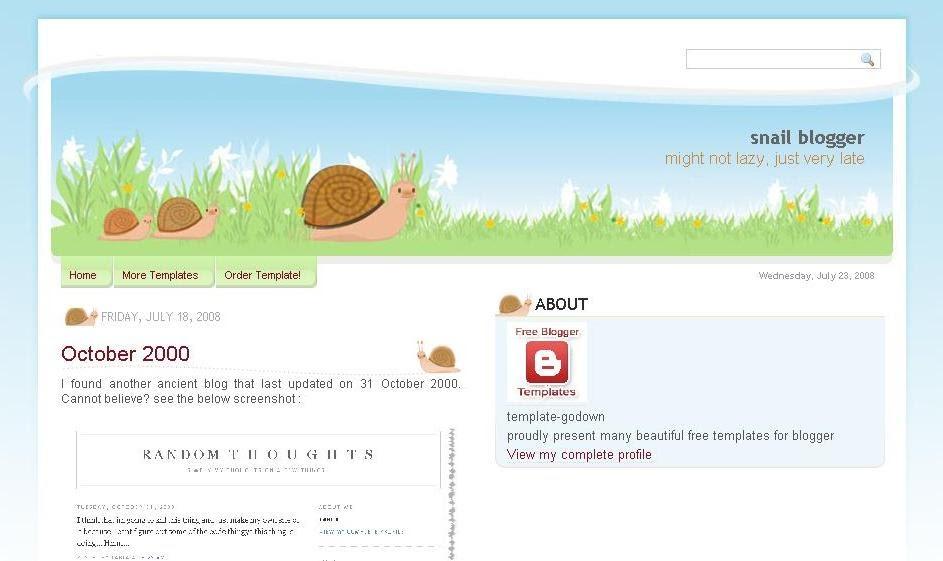 Snail 3 columns xml blogger template veerublog for Xml templates for blogger free download