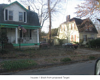 2 homes, 1 block from proposed Target