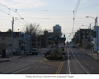 Madison Avenue trolley line, 2 blocks from proposed Target