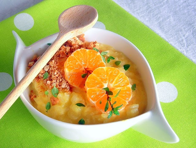 Arborio Rice Pudding with Mandarin Coins ~ hip pressure cooking