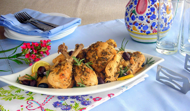 pressure cooker chicken with lemons and olives recipe
