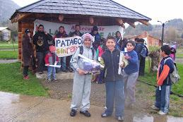 bajo la lluvia patagona