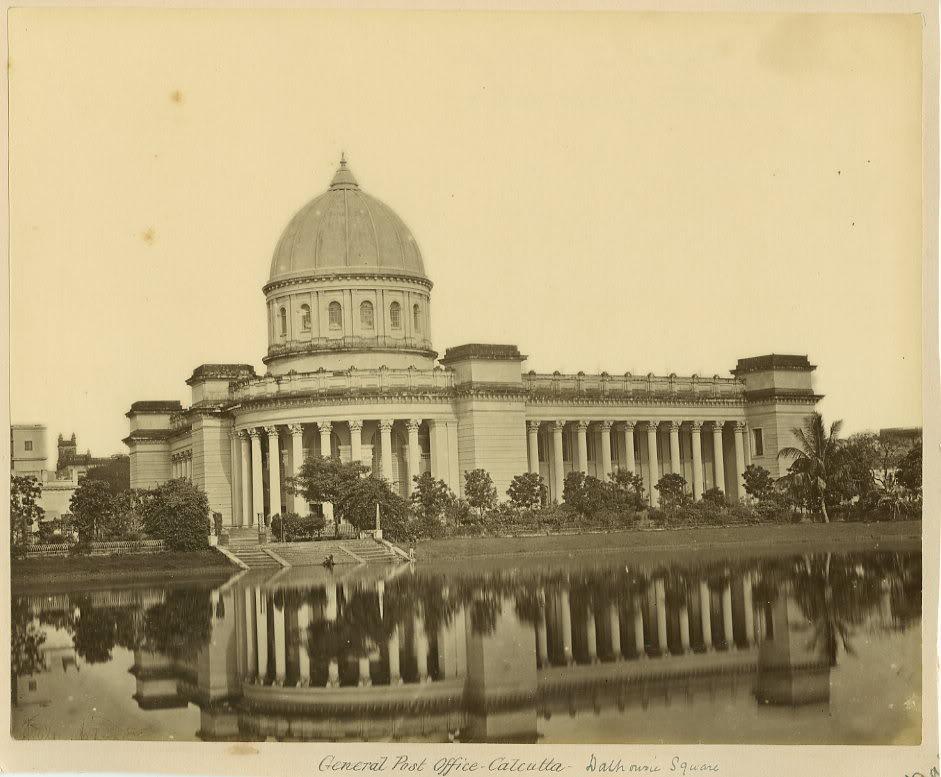 General Post Office Dalhousie Square Calcutta (Kolkata) - 1870s