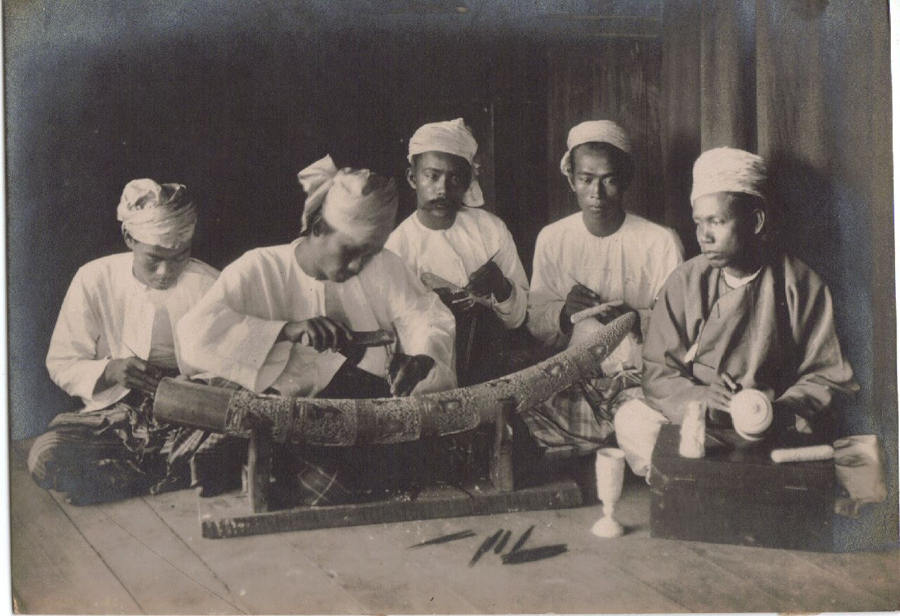 Ivory Workers, Calcutta c.1903