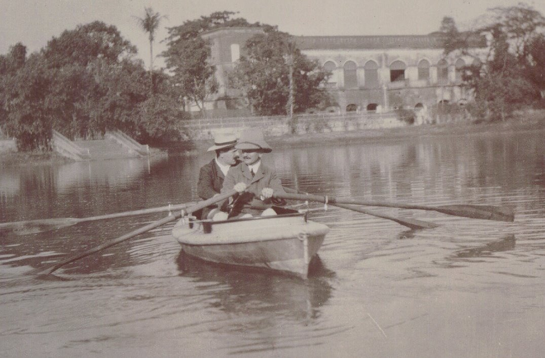 Two men in a Boat, probably Calcutta
