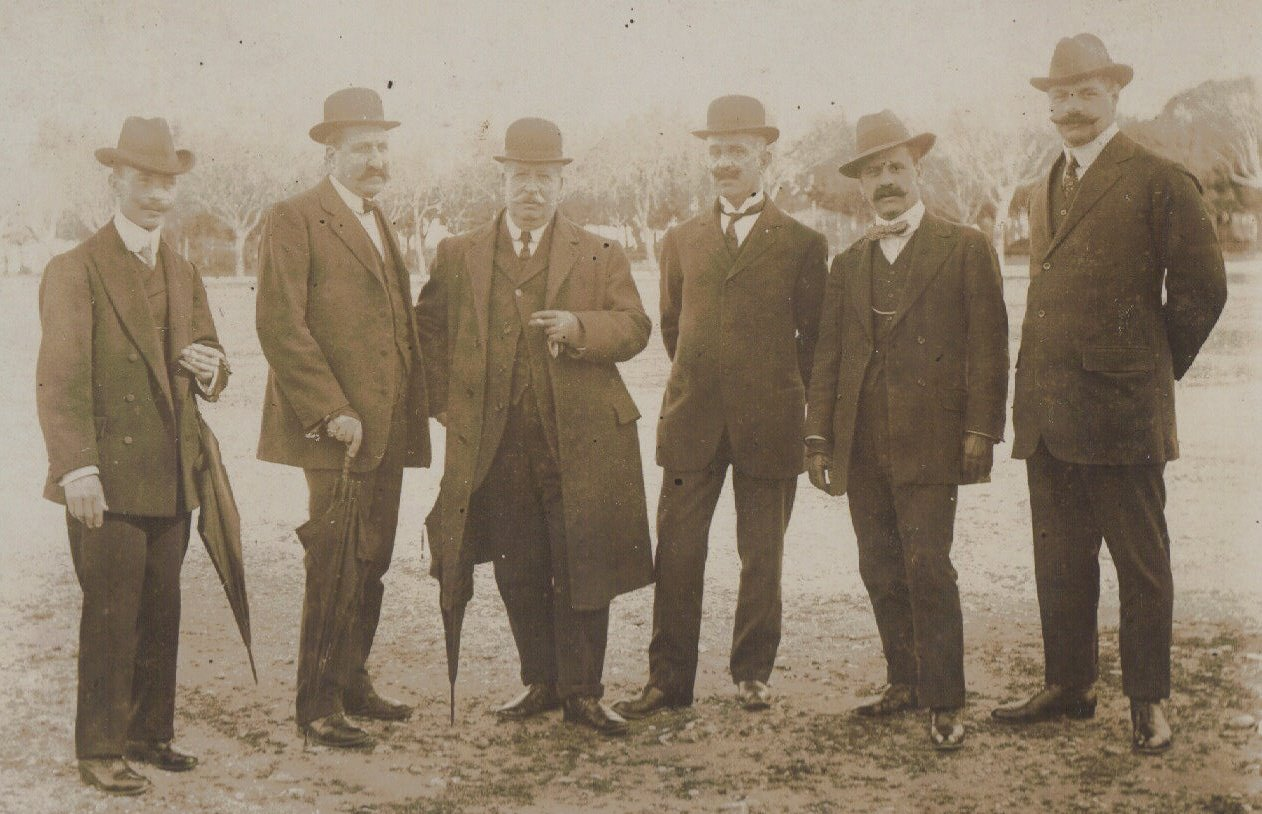 Gathering of Gentlemen, c.1903 Pandy on right possibly
