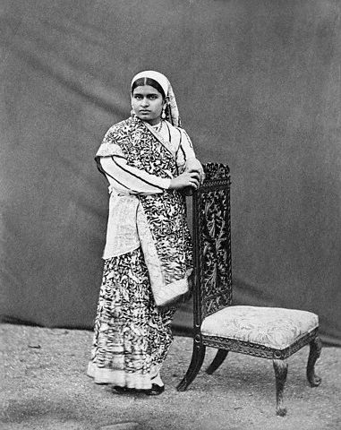 Portrait of Well Dressed Lady of India