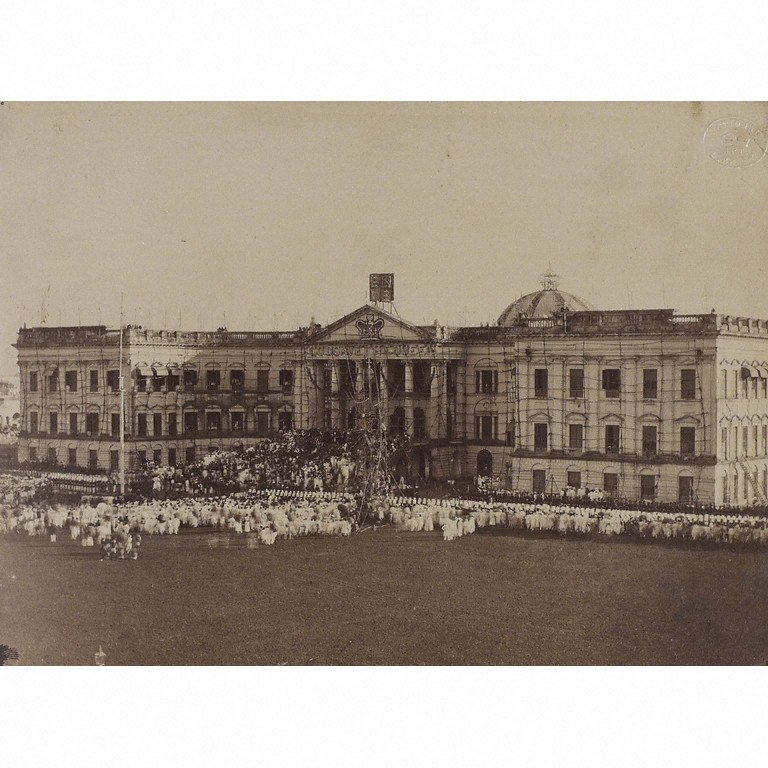 Ceremony witnessing the handing of the British Crown from the East India Company to Queen Victoria