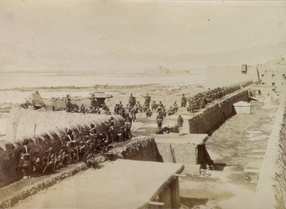 Bengal Sappers and Miners Bastion, at Sherpur cantonment, Kabul, Second Afghan War, c1879