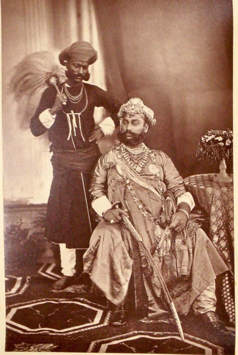 The Maharaja of Indore at the Delhi Darbar of 1877
